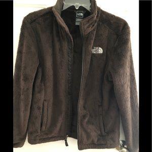 Women's SP brown faux fur North Face coat